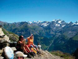 Schweiz Pause auf dem Baerentrek