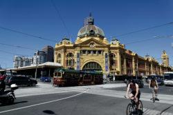 Flinders Street Station City Circle Tram Straßenbahn Bahnhof